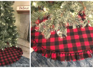 Easy Fleece Christmas Tree Skirt Free Sewing Pattern