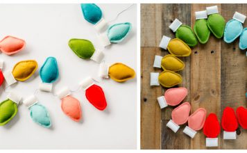 Felt Christmas Bulb Garland Free Sewing Pattern