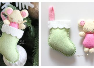 Felt Christmas Mouse Free Sewing Pattern
