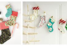 Mini Christmas Stocking Free Sewing Pattern