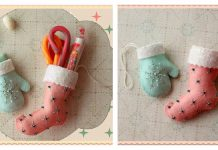 Mini Mitten and Stocking Ornaments Free Sewing Pattern