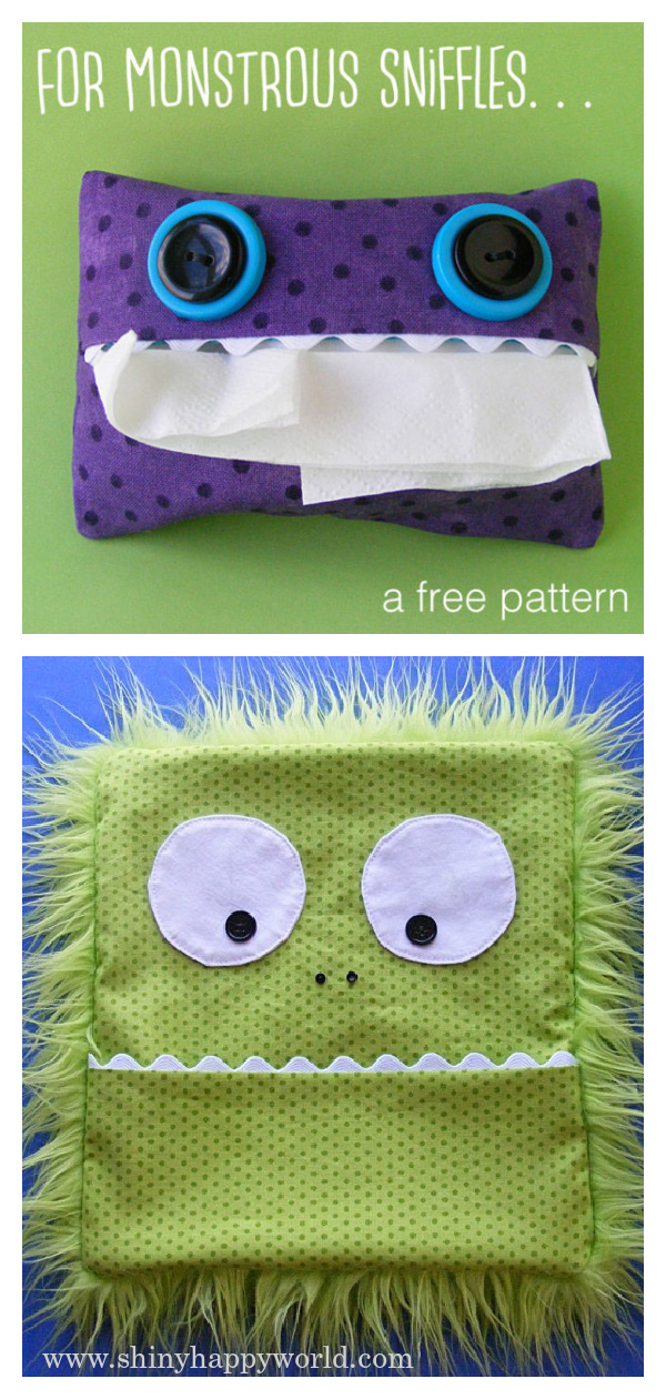Monster Tissue Pack Free Sewing Pattern
