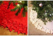 Poinsettia Tree Skirt Free Sewing Pattern