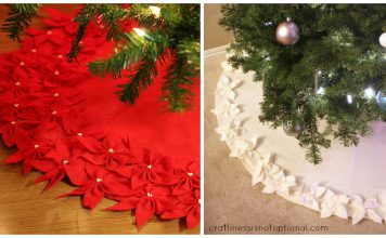 Poinsettia Tree Skirt Free Sewing Pattern