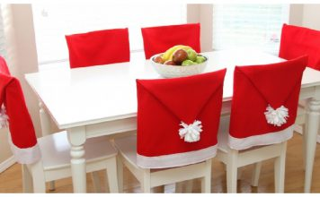 Santa Hat Chair Covers Free Sewing Pattern