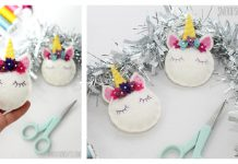 Unicorn Ornaments Free Sewing Pattern