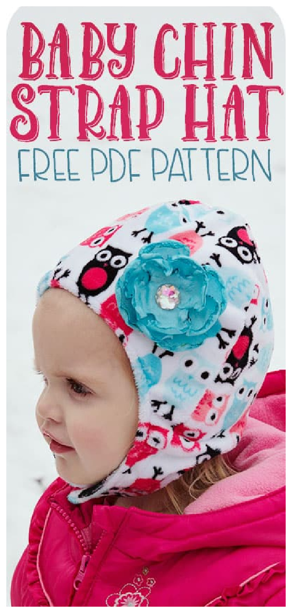 Baby Hat with Chin Strap Free Sewing Pattern