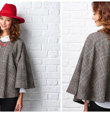 Circle Cape Free Sewing Pattern