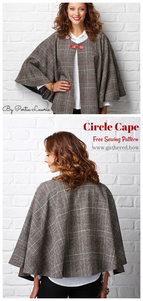 Circle Cape Free Sewing Pattern