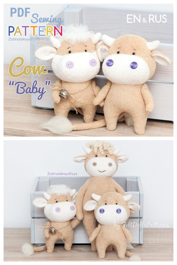 Cow Plush Sewing Pattern