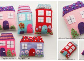 Cute Felt Houses Free Sewing Pattern