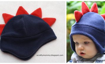 Dino Hat Free Sewing Pattern