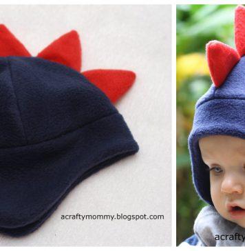 Dino Hat Free Sewing Pattern