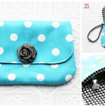Elegant Wristlet Clutch Bag Free Sewing Pattern
