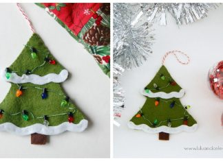 Felt Christmas Tree Ornament Free Sewing Pattern
