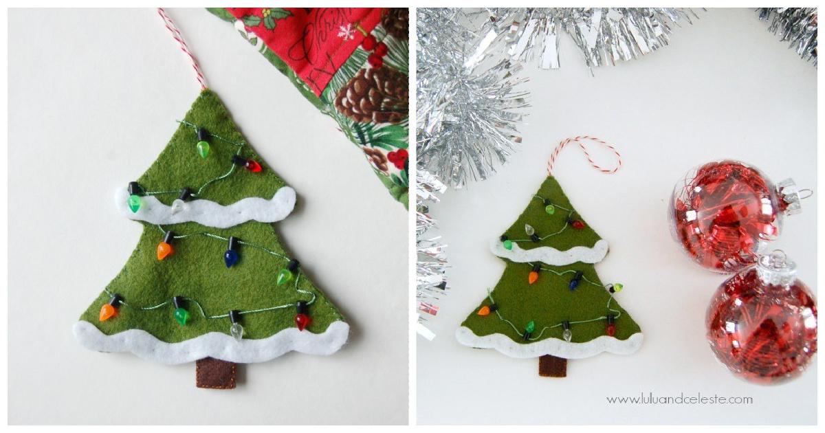 Felt Christmas Tree Ornament Free Sewing Pattern