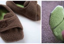 Fleece Toddler Slippers Free Sewing Pattern