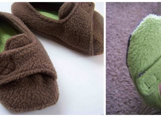 Fleece Toddler Slippers Free Sewing Pattern