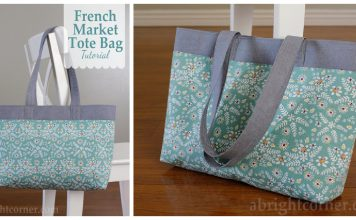 French Market Tote Bag Free Sewing Pattern