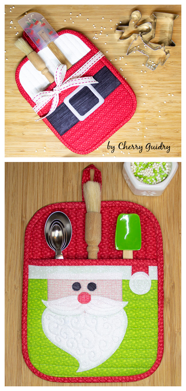 Holiday Potholders Free Sewing Pattern