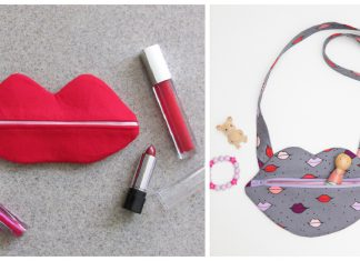 Lip Bag Free Sewing Pattern