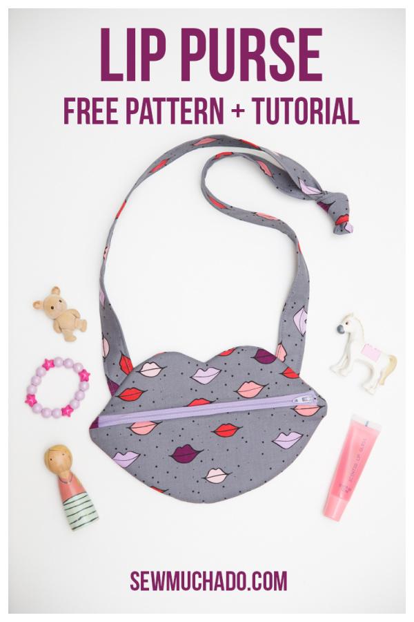 Lip Purse Free Sewing Pattern