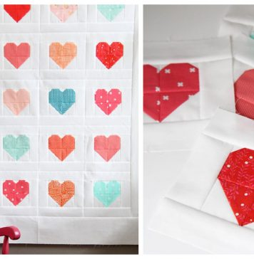 Simple Heart Quilt Free Sewing Pattern