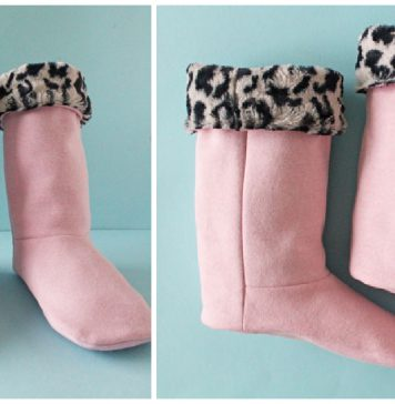 Snuggly Slipper Boots Free Sewing Pattern