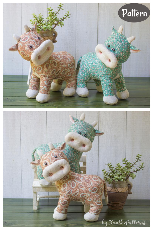 Stuffed Cow Sewing Pattern