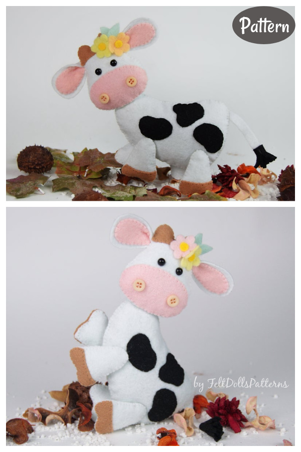Stuffed Cow Toy Sewing Pattern