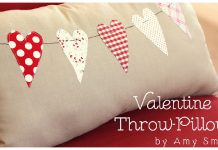 Valentine Throw Pillow Free Sewing Pattern
