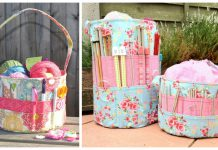 Yarn Storage Tote Bag Sewing Pattern