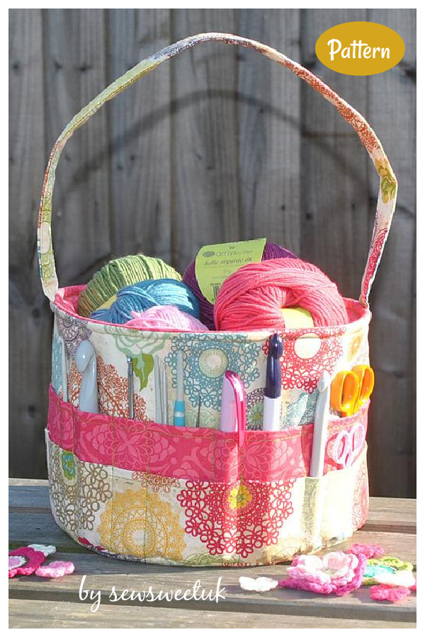 Yarn Storage Tote Bag Sewing Pattern