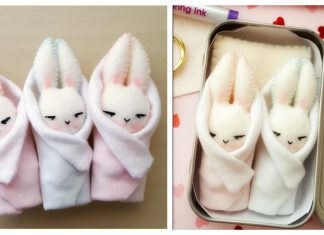 Bunny in a Blanket Free Sewing Pattern