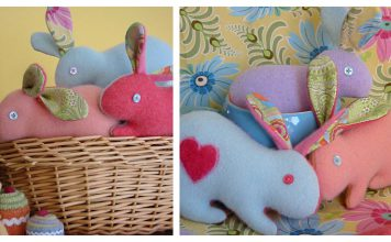 Cashmere bunny Free Sewing Pattern