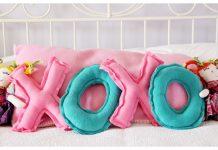DIY XO Pillows Free Sewing Pattern