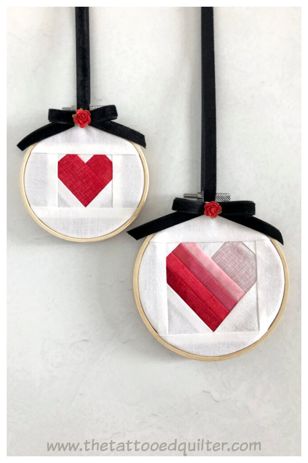 Easy Heart Quilt Blocks Free Sewing Pattern