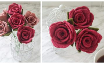 Felt Rose Stems Free Sewing Pattern