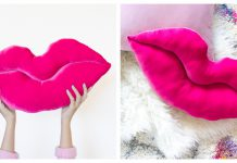 Lips Pillow Free Sewing Pattern