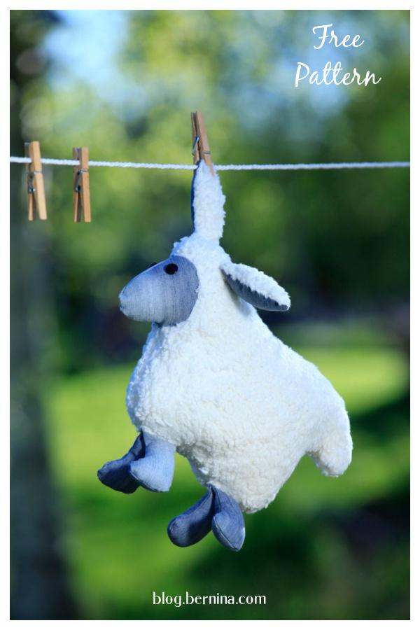 Plush Sheep Cuddly Toy Free Sewing Pattern