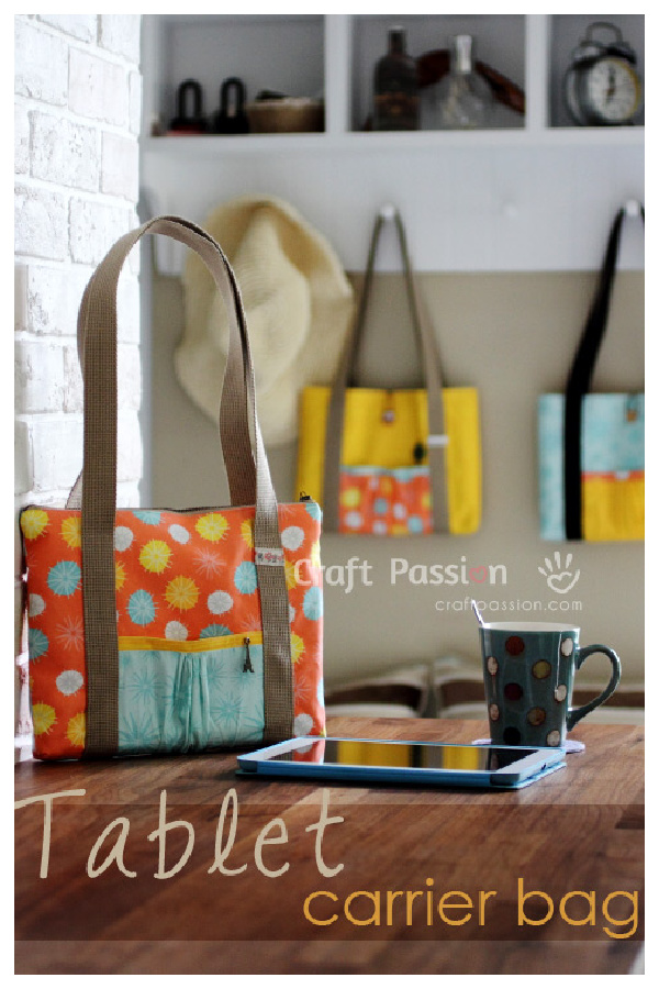Tablet Carrying Tote Bag Free Sewing Pattern