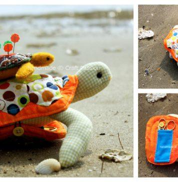 Turtle Pincushion Free Sewing Pattern