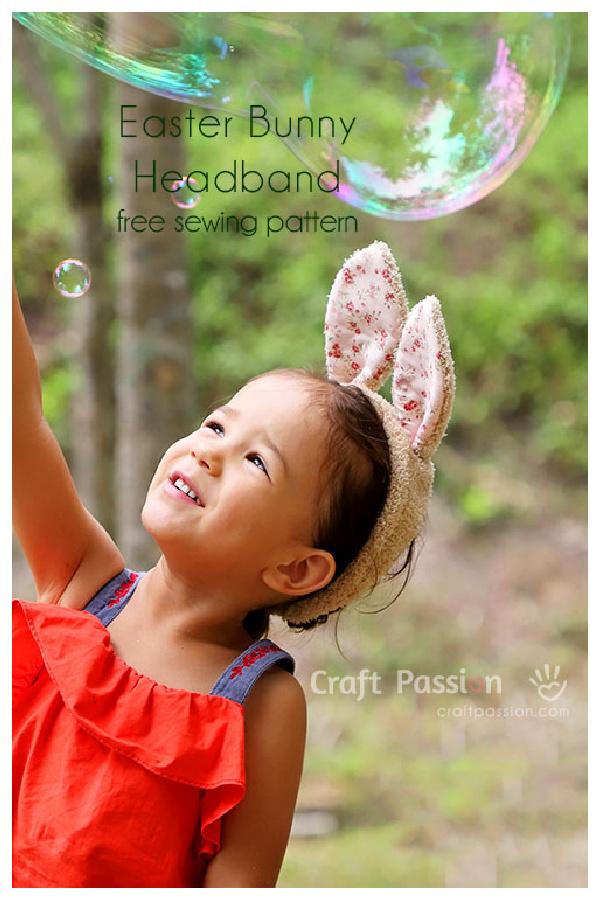 Bunny Ears Headband Free Sewing Pattern