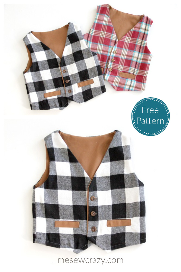Kids Vest Free Sewing Pattern