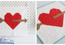 Lovestruck Heart Block Free Sewing Pattern