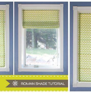 Roman Shade Free Sewing Pattern