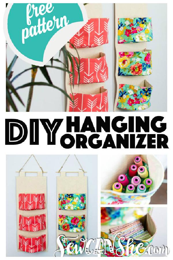 DIY Hanging Organizer Free Sewing Pattern