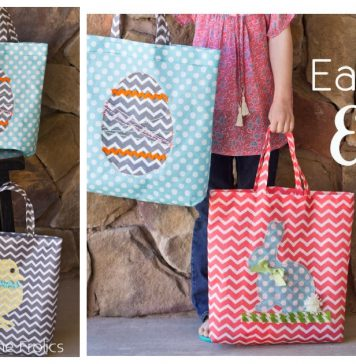 Easy Easter Tote Free Sewing Pattern