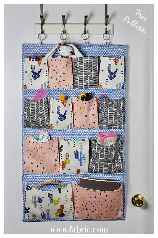Hanging Pocket Wall Organizer Free Sewing Pattern