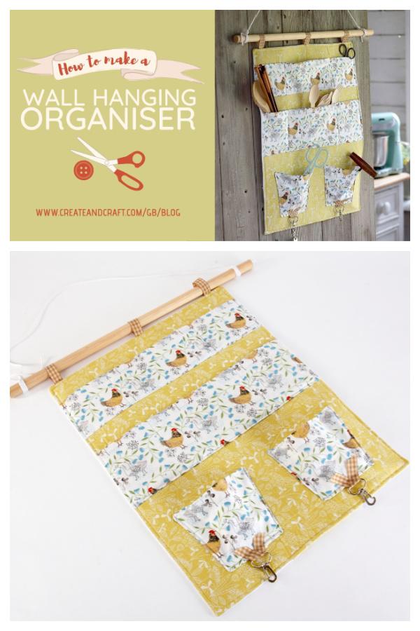 Hanging Wall Organizers Free Sewing Pattern